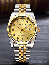 cheap -Men's Fashion Watch Quartz Silver / Gold Analog Casual - Gold White