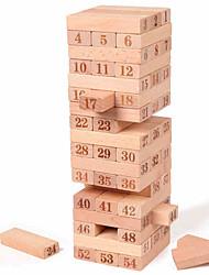 cheap -Wooden Blocks Stacking Tumbling Tower Jenga Wooden Large Size Balance Kid's Adults' Toys Gifts