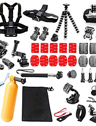 cheap -qqt for gopro accessories 25 in 1 set family kit go pro sj4000 sj5000 sj6000 accessories package for gopro hd hero 3 4 5 camera