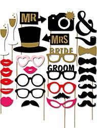 cheap -Photo Booth Props & Signs Material 30 Wedding