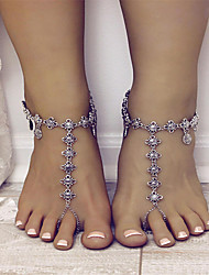 cheap -Women's Barefoot Sandals feet jewelry Tassel Ladies Vintage Fashion Anklet Jewelry Gold / Silver For Daily Casual Cosplay Costumes