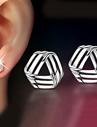 cheap -Women's Stud Earrings Geometrical Twisted Dainty Ladies Classic Delicate Earrings Jewelry Silver For Christmas Gifts Wedding Party Special Occasion Anniversary Birthday