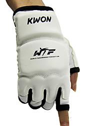 Недорогие -Боксерские перчатки Для Тхэквондо Бокс Без пальцев Защитный PU Белый