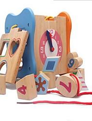 Недорогие -Игрушечные счеты Игры с последовательностью Деревянные часы Игрушки для обучения математике Обучающая игрушка Игрушки Квадратный