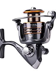cheap -Fishing Reel Spinning Reel / Carp Fishing Reels / Ice Fishing Reels 5.2:1 Gear Ratio+13 Ball Bearings Hand Orientation Exchangable Sea Fishing / Bait Casting / Ice Fishing - HA3000 / Bass Fishing