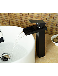 cheap -Bathroom Sink Faucet - Waterfall Oil-rubbed Bronze Centerset Single Handle One HoleBath Taps