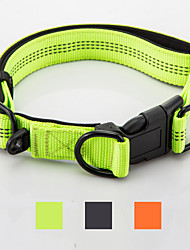 cheap -Dog Collar Reflective Adjustable Portable Foldable Safety Solid Colored Nylon Black Orange Green