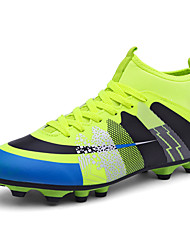 cheap -Unisex Light Soles Faux Leather / PU Fall / Winter Athletic Shoes Soccer Shoes Orange / Black / Blue / Black / Green / Lace-up