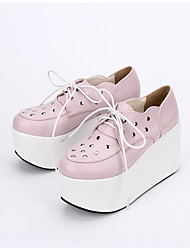 cheap -Men's Lolita Shoes Lace Up Lolita Platform Lolita 10 cm Pink PU Leather PU Leather / Polyurethane Leather Halloween Costumes