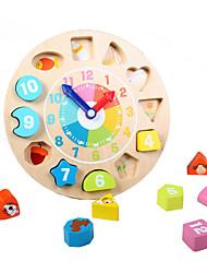 Недорогие -Деревянные часы Обучающая игрушка Часы Образование Детские Игрушки Подарок