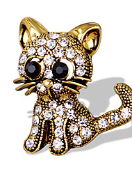cheap -Women's Girls' Brooches Animal Unique Design Fashion Cute Euramerican Rhinestone Brooch Jewelry Gold Silver For Special Occasion Event / Party Daily Ceremony Casual