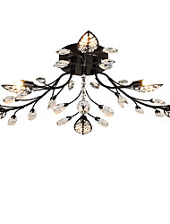 cheap -LightMyself™ 6-Light 78 cm Crystal Flush Mount Lights Metal Painted Finishes Chic & Modern 200-240V / 110-120V / G9
