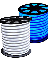 cheap -HKV® Warm White Cool White Blue LED Flexible Strip Light 2835SMD LED Neon Flex Tube 600led IP67 Waterproof Rope String Lamp EU Power Plug