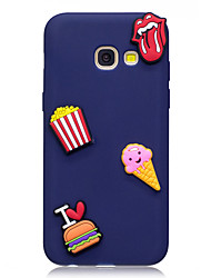 cheap -Case For Samsung Galaxy A3(2017) / A5(2017) Pattern / DIY Back Cover Food Soft TPU