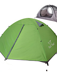 cheap -2 person Backpacking Tent Outdoor Rain Waterproof Dust Proof Foldable Double Layered Camping Tent 1500-2000 mm for Camping / Hiking Outdoor Nylon Polyester Taffeta