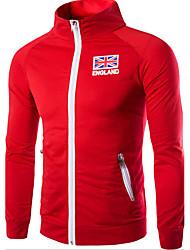 abordables -Homme Col Arrondi Manches Longues Sweatshirt Couleur Pleine / Automne