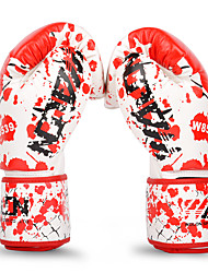 cheap -Boxing Bag Gloves Boxing Training Gloves For Boxing Mittens Safety Unisex - White+Red