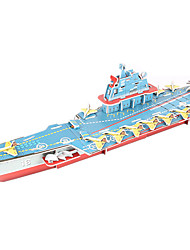 cheap -3D Puzzle / Model Building Kit Warship / Aircraft Carrier / Ship DIY High Quality Paper Classic Unisex Gift