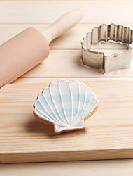 cheap -Sea Shell Cookies Cutter Stainless Steel Biscuit Cake Mold Kitchen Baking Tools