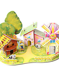 cheap -3D Puzzle House DIY High Quality Paper Classic Kid's Unisex Boys' Girls' Toy Gift