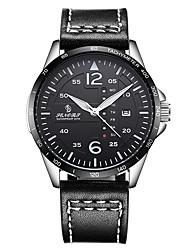 cheap -Men's Sport Watch Analog Quartz Fashion Water Resistant / Waterproof Calendar / date / day / Genuine Leather / Japanese