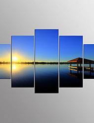 cheap -Stretched Canvas Print Abstract,Five Panels Canvas Horizontal Print Wall Decor For Home Decoration