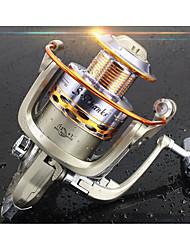 abordables -Reel Fishing Roulement Moulinet spinnerbait 5.2:1 Braquet+12 Roulements à billes Orientation à la main Echangeable Pêche d'eau douce / Pêche au leurre / Pêche générale - ST3000