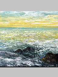 cheap -Big Size Hand-Painted Abstract Seascape Oil Paintings On Canvas Wall Art Picture For Home Decoration No Frame