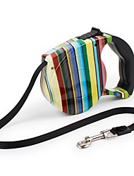 cheap -Cat Dog Leash Adjustable Portable Safety Rainbow Flower / Floral Nylon ABS Black Blue Rainbow