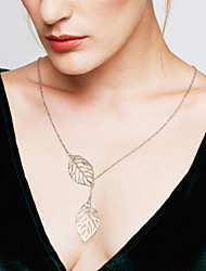 cheap -Women's Pendant Necklace Y Necklace Lariat Origami Leaf Cheap Statement Ladies Fashion Sterling Silver Silver Silver Golden Necklace Jewelry For Wedding Party Daily Casual