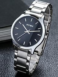 Недорогие -Муж. Модные часы Механические часы Кварцевый Белый Аналого-цифровые На каждый день - Белый Черный / Нержавеющая сталь