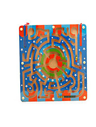 cheap -Maze Magnetic Maze 1 pcs Wooden Iron Magnetic Girls' Kid's Toy Gift