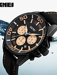 cheap -Men's Sport Watch Military Watch Smartwatch Quartz Digital Genuine Leather Multi-Colored 50 m Calendar / date / day Chronograph Creative Analog Charm Classic Casual Fashion Dress Watch - Yellow Red