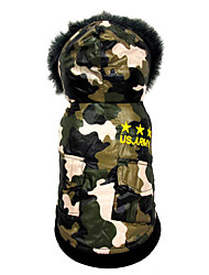 cheap -Dog Jumpsuit American / USA Casual / Daily Winter Dog Clothes Breathable Costume Cotton