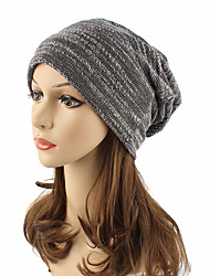 cheap -Women's Active Street chic Cotton Beanie / Slouchy Floppy Hat-Solid Colored Fall Winter Black Wine Khaki / Cute
