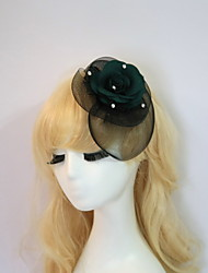 cheap -Gemstone & Crystal / Tulle / Resin Fascinators / Flowers / Hats with Crystal / Feather 1 Wedding / Special Occasion / Halloween Headpiece
