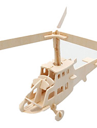cheap -3D Puzzle Jigsaw Puzzle Wooden Model Plane / Aircraft Famous buildings Helicopter DIY Wooden Classic Kid's Unisex Boys' Girls' Toy Gift