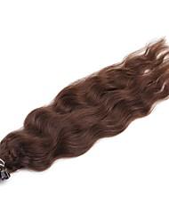 cheap -Fusion / U Tip Human Hair Extensions Curly Natural Wave Human Hair Human Hair Extensions Women's Medium Brown