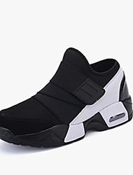 cheap -Men's Comfort Shoes PU Spring / Fall Sneakers Running Shoes Black / Black / White / Black / Red / EU42