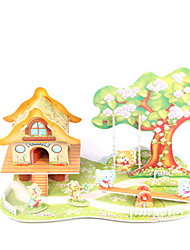 cheap -3D Puzzle Model Building Kit House DIY High Quality Paper Classic Kid's Unisex Boys' Girls' Toy Gift