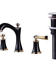 cheap -Faucet Set - Widespread Oil-rubbed Bronze Widespread Two Handles Three HolesBath Taps