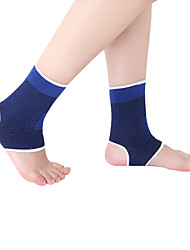 cheap -Ankle Brace Foot Support for Running Exercise & Fitness Leisure Sports Fits left or right ankle Breathable Acrylic Fibers Latex silk 1 Pair Casual Sports Performance Blue