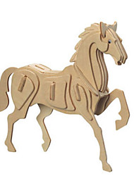 cheap -3D Puzzle Metal Puzzle Model Building Kit Horse DIY Natural Wood Classic Kid's Adults' Unisex Toy Gift