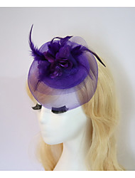 cheap -Resin / Cotton Fascinators / Flowers / Hats with 1 Wedding / Special Occasion / Halloween Headpiece