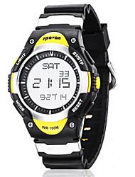 cheap -Men's Fashion Watch Smartwatch Digital Rubber Black / Blue 30 m Water Resistant / Waterproof Digital Yellow Blue