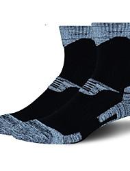 cheap -Compression Socks Athletic Sports Socks Cycling Socks Men's Yoga Running Hiking Bike / Cycling Warm Camping & Hiking Anatomic Design 1 Pair Cotton Spandex Chinlon Black Dark Gray Gray L-XL / Stretchy