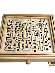 cheap -Wooden Labyrinth Maze Wooden Kid's Toy Gift 1 pcs