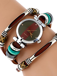 cheap -Women's Bracelet Watch Wrist Watch Quartz Wrap Genuine Leather Brown Cool Imitation Diamond Analog Ladies Vintage Casual Butterfly Bohemian - Black Brown Green One Year Battery Life