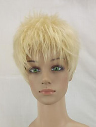 cheap -Synthetic Wig Curly Curly Pixie Cut Wig Blonde Short Beige Blonde Synthetic Hair Women's Blonde hairjoy