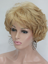 cheap -Synthetic Wig Curly Curly Layered Haircut Wig Blonde Short Blonde Synthetic Hair Women's Blonde StrongBeauty